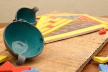 Black Porcelain Bowls and Ceramic Kite
