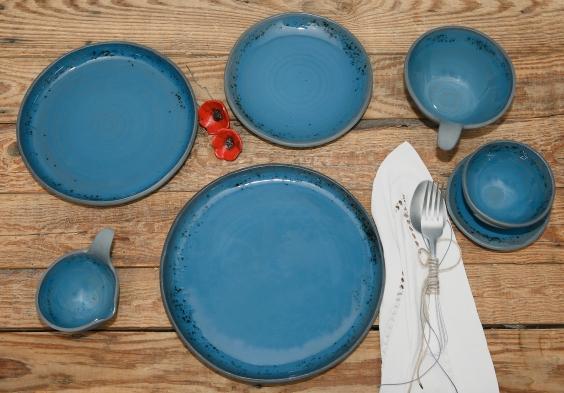 Black Porcelain Artistic Blue