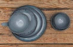 Black Porcelain Artistic grey