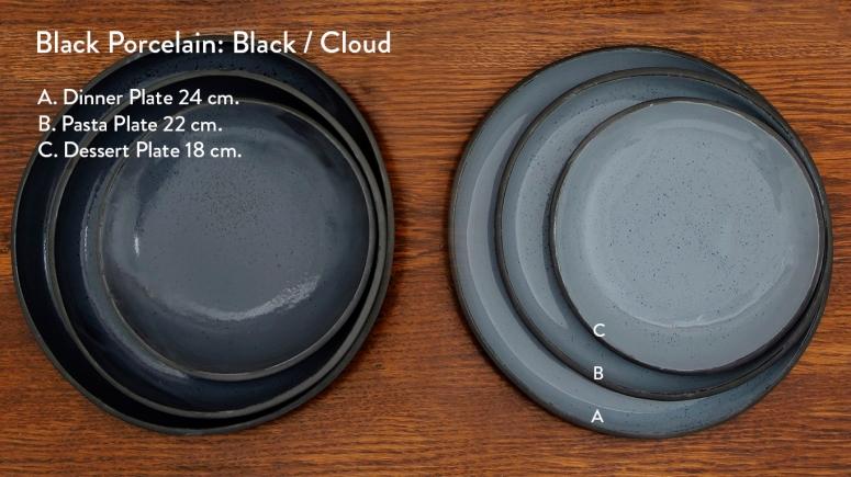 Black porcelain Black and Cloud