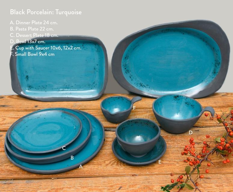 Black Porcelain Turquoise