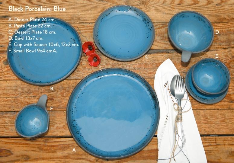 Blue Black Porcelain