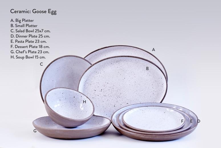 Ceramic Goose Egg-Plates Full Collection