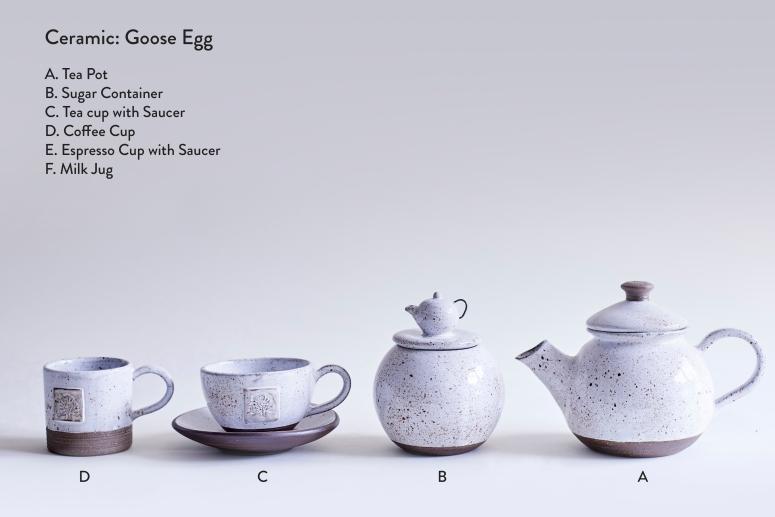 Ceramic Goose Egg-Tea Pot-Container-Tea Cup-Coffee Cup