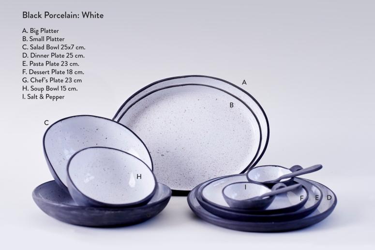 Porcelain- Goose Egg both Plates