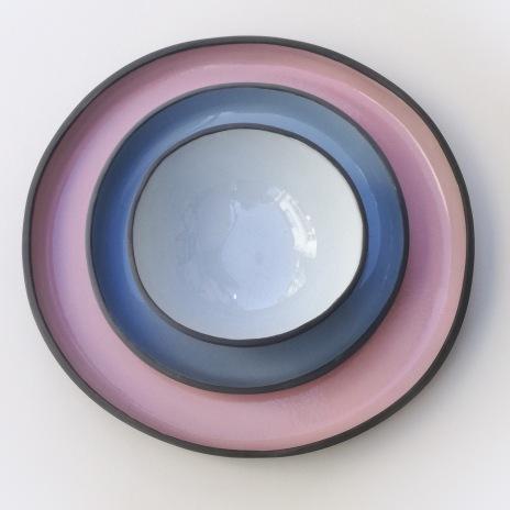 Pink Dinner 30cm, Blue Dinner 23cm & Bowl