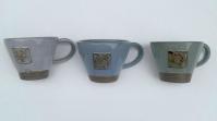 Grey Blue Green 6oz Cups