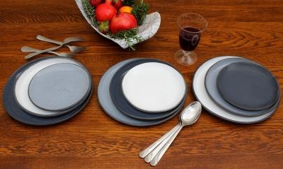Black, Grey White (Black Porcelain)