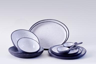 Goose Egg Collection (Black Porcelain)