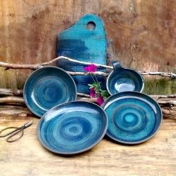 Sea Blue Linen Collection