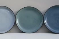 Grey, Green & Blue Dinner Plates