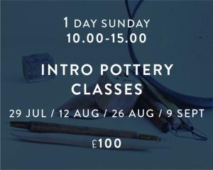 Intro pottery Classes Jul - Sept