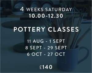 Pottery Classes Aug - Oct