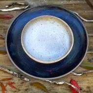 Dark Diner Plate & Speckled Bowl