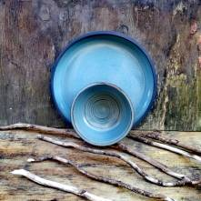Natural Collection Blue Bowl & Dinner Plate
