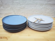 Blue Plates Before and After the Last Firing