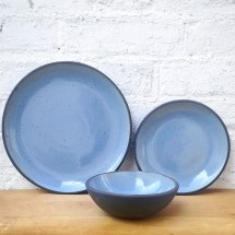 Dinner, Side, Bowl Sky Blue Plates
