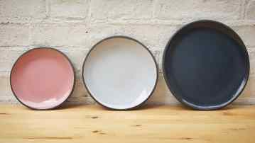 Pink, Sky Blue and Blue Plates