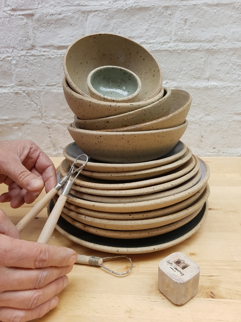 Speckled Clay Plates