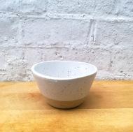 White Speckled Salad Bowl